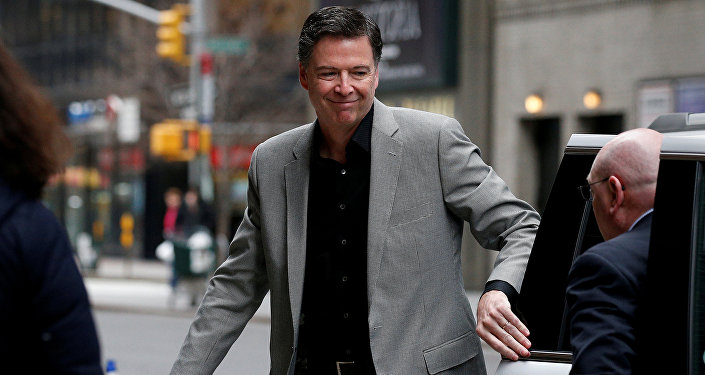 Former FBI Director James Comey arrives for a taping of The Late Show with Stephen Colbert in the Manhattan borough of New York City, New York, U.S., April 17, 2018