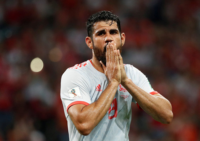 Soccer Football - World Cup - Group B - Portugal vs Spain - Fisht Stadium, Sochi, Russia - June 15, 2018 Spain's Diego Costa reacts