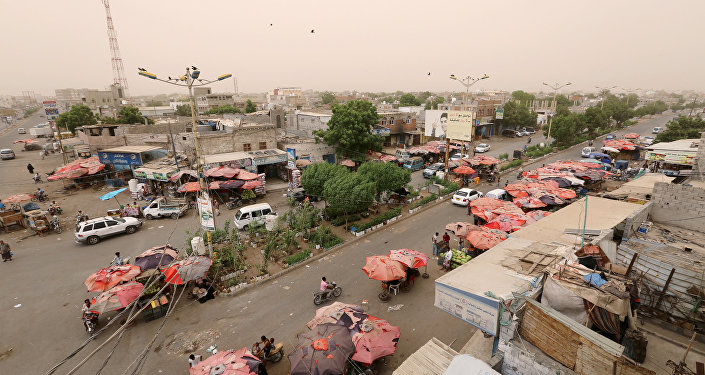 View of the Red Sea port city of Hodeidah, Yemen, June 14, 2018