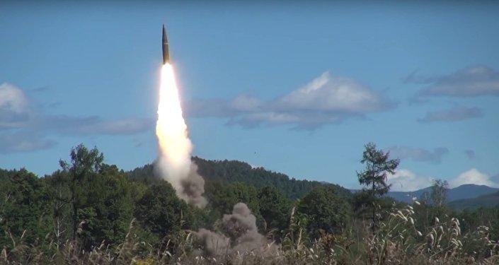 Iskander ballistic missile launch