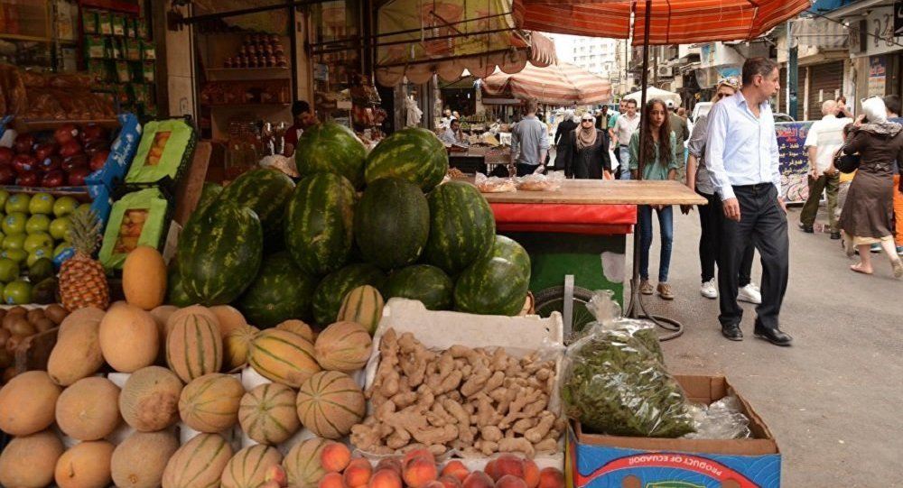 Vegetables and fruit in the market of Damascus