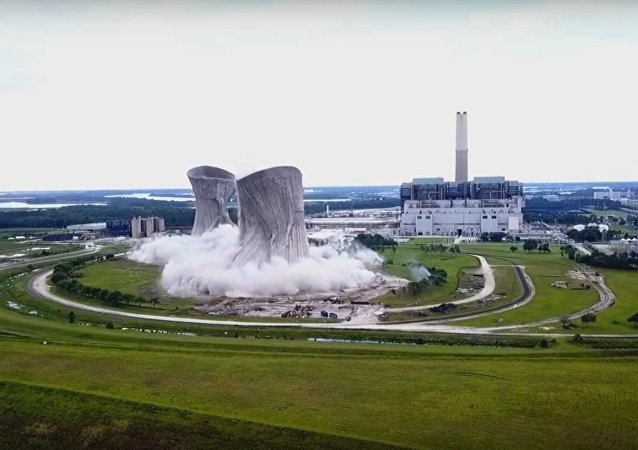 Jacksonville Northside (JEA) Power Plant implosion - Full drone video (Mavic Pro)