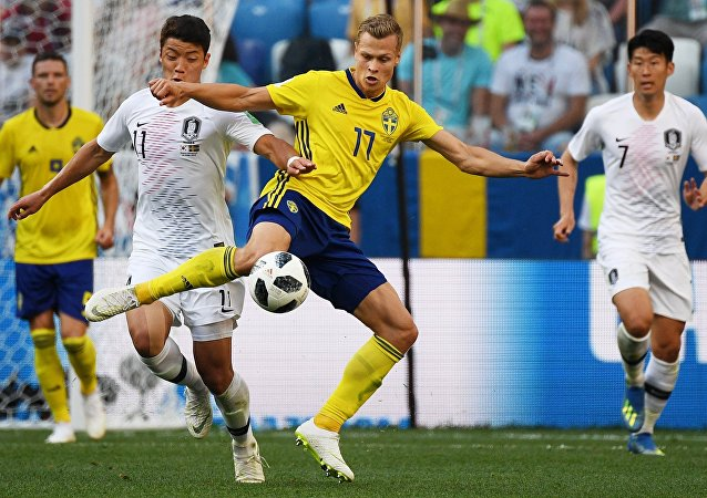 Soccer. World Cup 2018. A match Sweden - the Republic of Korea