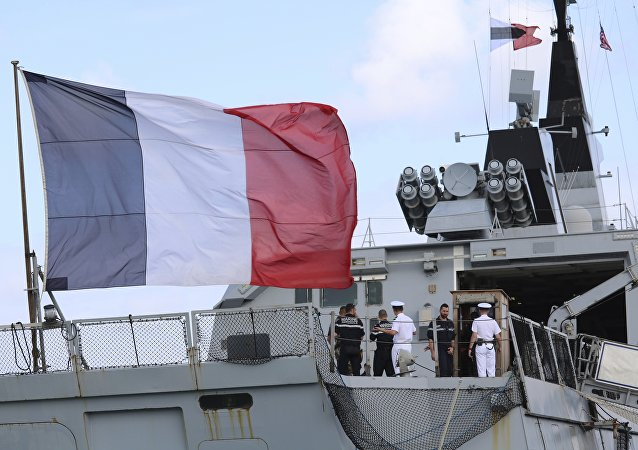 The French stealth frigate Courbet (File)