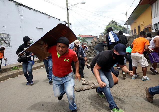 Enfrentamiento en Masaya (oeste de Nicaragua)