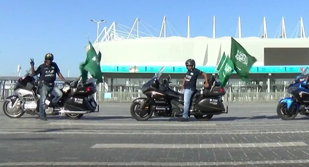 Russia: Bikers From Saudi Arabia at World Cup to Support Their Team