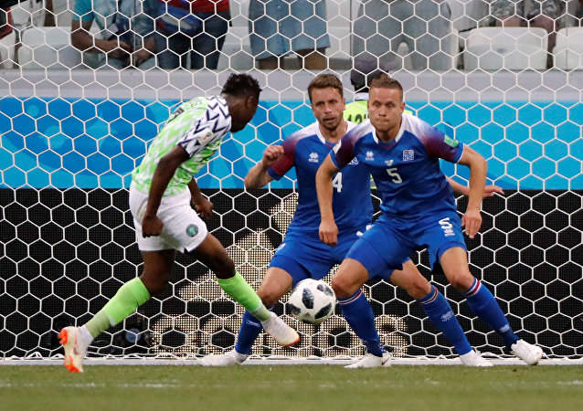 Soccer Football - World Cup - Group D - Nigeria vs Iceland - Volgograd Arena, Volgograd, Russia - June 22, 2018 Nigeria's Ahmed Musa scores their second goal