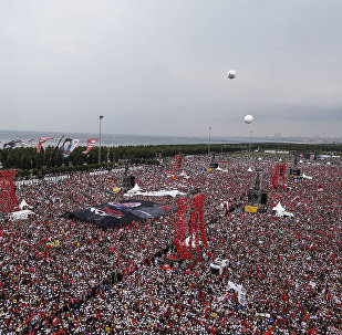 Supporters of Muharrem Ince, presidential candidate of Turkey's main opposition Republic People's Party, attend an election rally in Istanbul, Saturday, June 23, 2018. Turkish voters will vote Sunday, June 24, in a historic double election for the presidency and parliament.