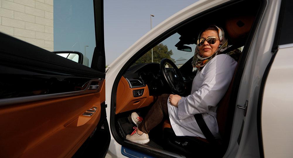 Samira al-Ghamdi, a practicing psychologist, arrives after driving her car to work, in Jeddah, Saudi Arabia June 24, 2018