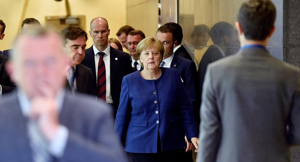 German Chancellor Angela Merkel arrives to take part in an emergency European Union leaders summit on immigration, in Brussels, Belgium June 24, 2018