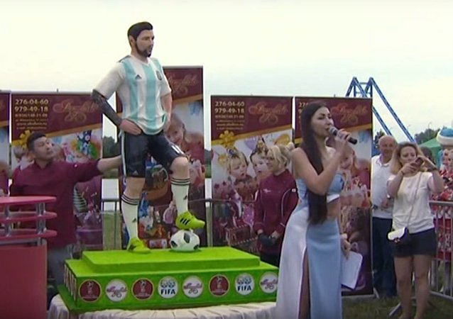 Let them eat Messi cake! Bronnitsy fans celebrate footy star's birthday