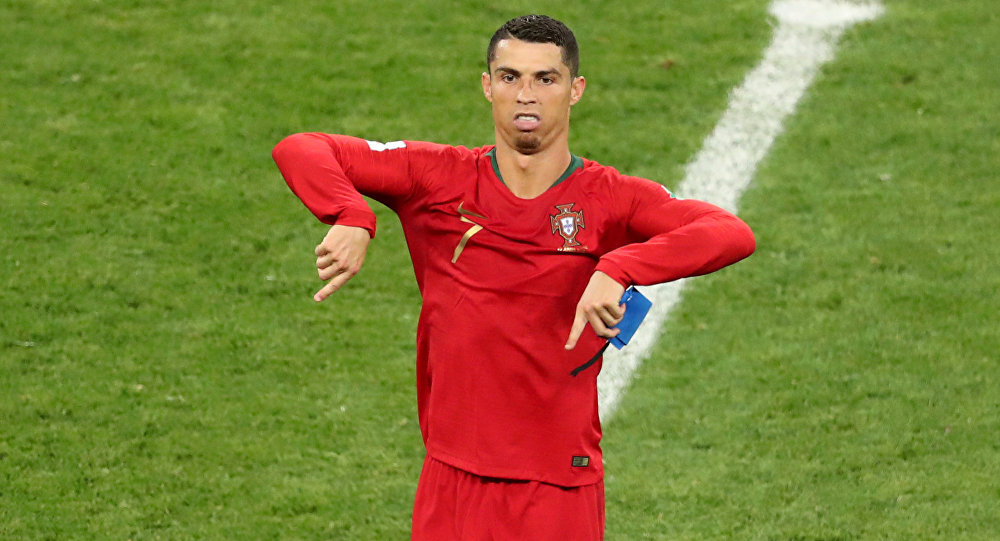 Soccer Football - World Cup - Group B - Iran vs Portugal - Mordovia Arena, Saransk, Russia - June 25, 2018 Portugal's Cristiano Ronaldo reacts after the match referencing