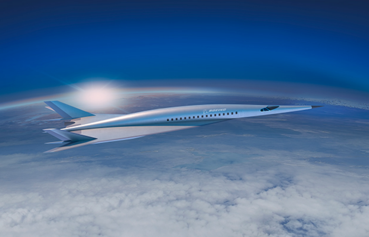 Boeing unveils hypersonic plane concept that could fly passengers across the Atlantic Ocean in two hours.