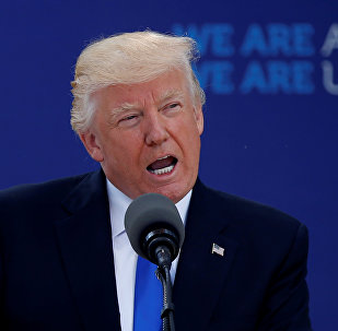 U.S. President Donald Trump delivers remarks at the start of the NATO summit at their new headquarters in Brussels, Belgium
