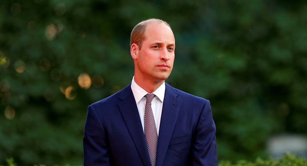 Britain's Prince William attends the birthday party of Britain's Queen Elizabeth, at the residence of British Ambassador to Jordan Edward Oakden, in Amman, Jordan, June 24, 2018