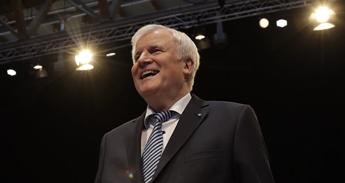 Horst Seehofer in Nuremberg, Germany.