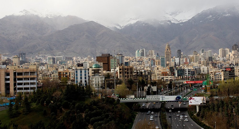 A general view of northern Tehran.