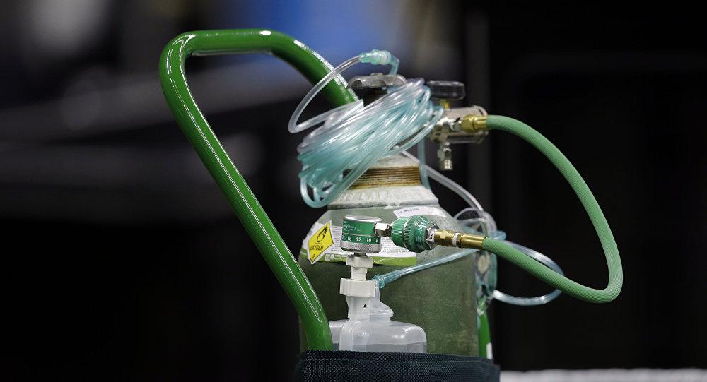 An oxygen tank.