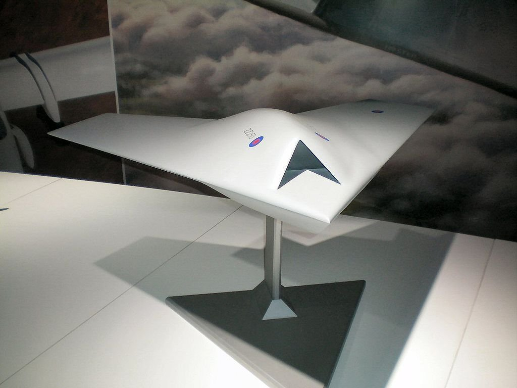 Model of BAE Taranis UAV, on which the Franco-British FCAS was to be based.
