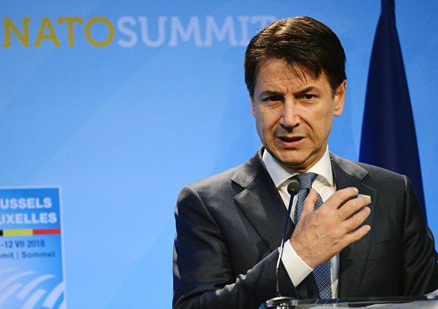 Prime Minister of Italy Giuseppe Conte at the NATO summit of heads of state and government, Brussels