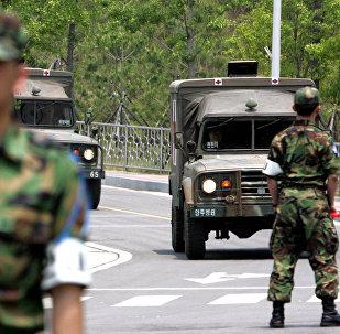 South Korean military ambulances (File)