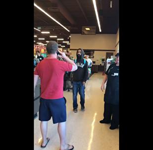 Canadian man calls fellow shopper an illegal alien and attempts to make a citizens arrest