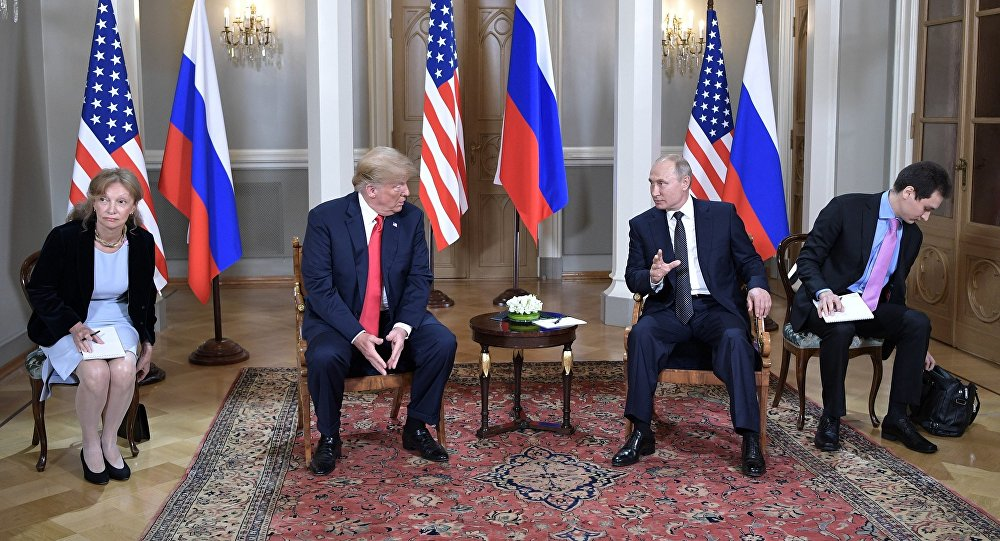 Meeting of US President Donald Trump and Russian President Valdimir Putin in Helsinki