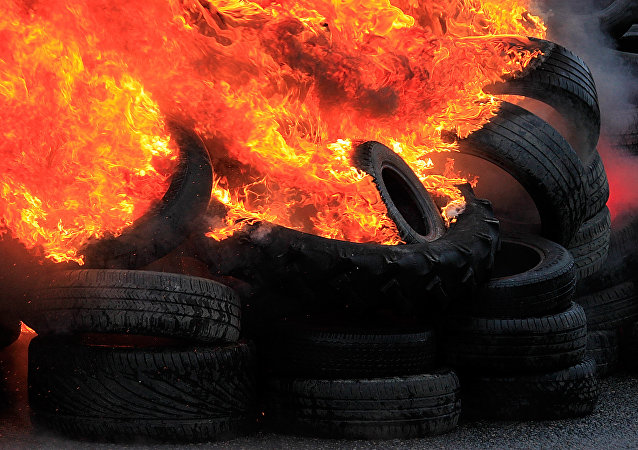 Burning tires (File)
