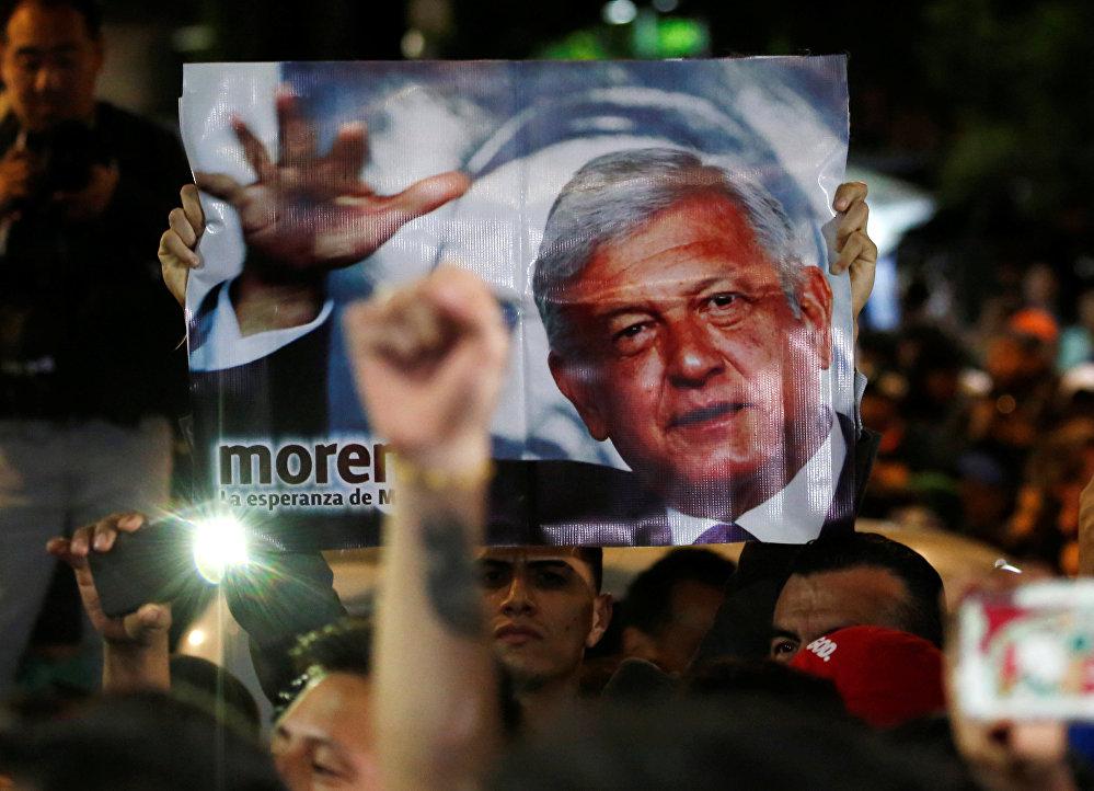 Partidarios de Andrés Manuel López Obrador