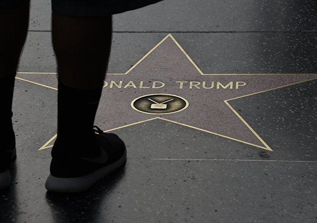 (File) Republican presidential candidate frontrunner Donald Trump's star on the Hollywood Walk of Fame in seen, September 10, 2015 in Hollywood, California
