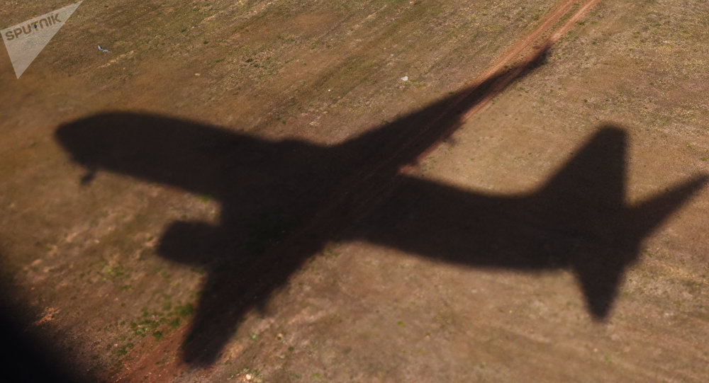 The shadow of a flying plane. (File)