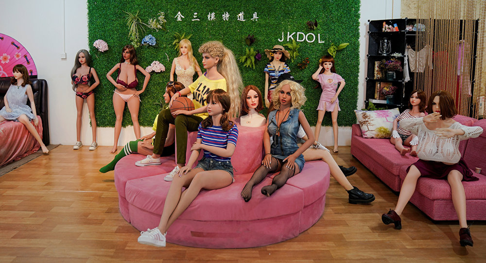 Various styles and designs of sex dolls are displayed at the WMDOLL factory in Zhongshan, Guangdong Province, China, July 11, 2018