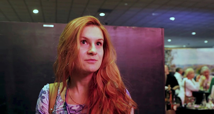 Accused Russian national Maria Butina speaks to camera at 2015 FreedomFest conference in Las Vegas, Nevada, U.S., July 11, 2015 in this still image taken from a social media video obtained July 19, 2018