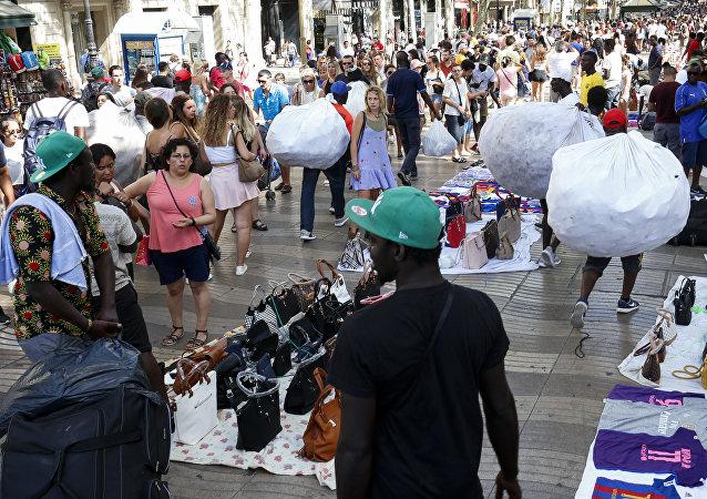 Street market in Barcelona (File)