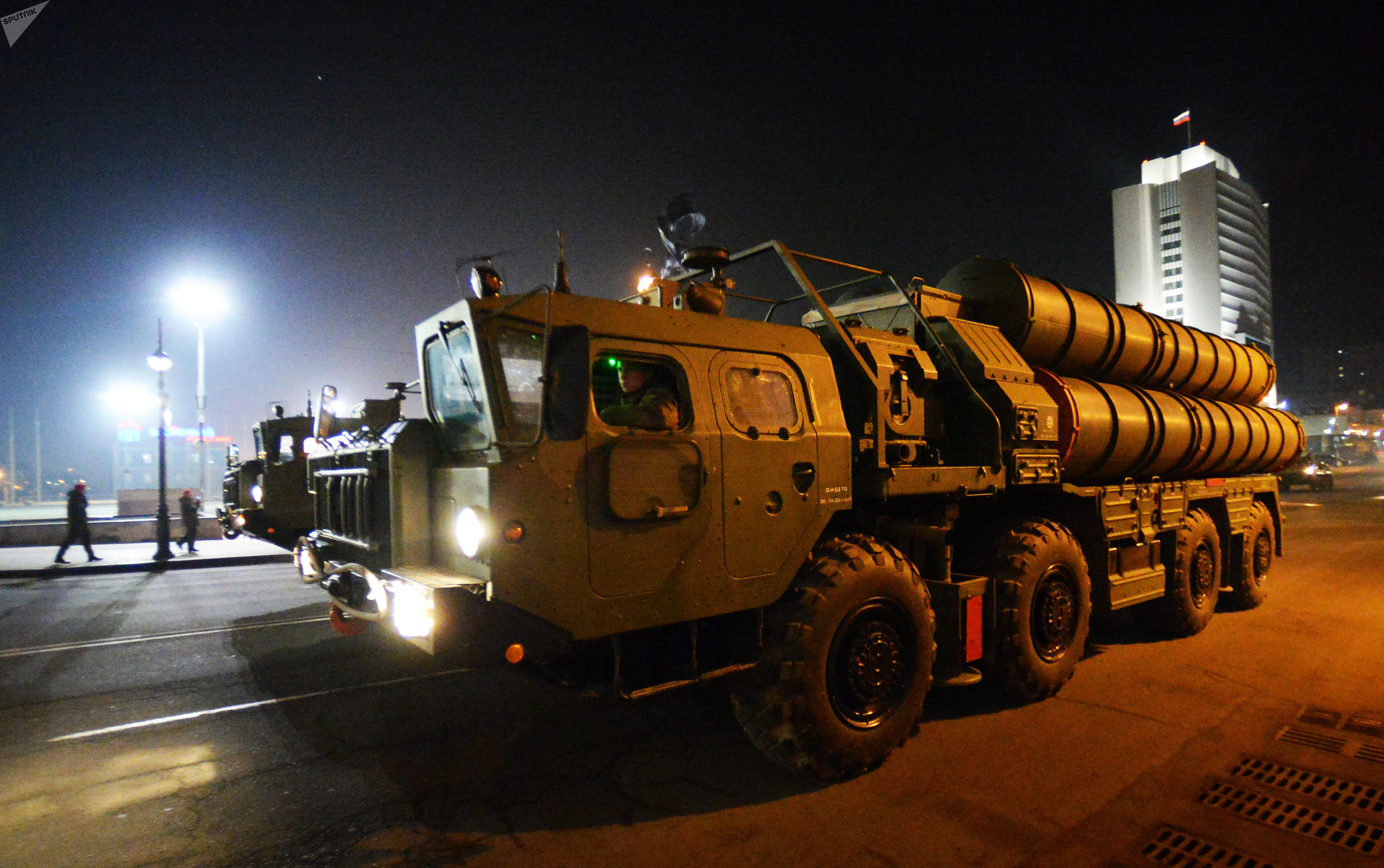 An S-400 air defense missile system