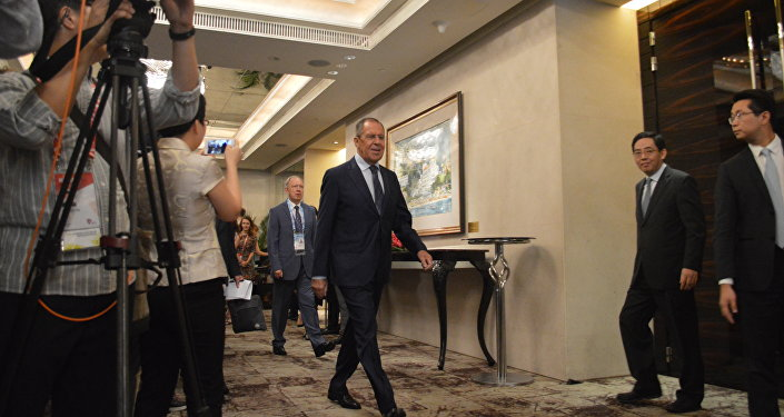 Russian Foreign Minister Sergei Lavrov at ASEAN Summit