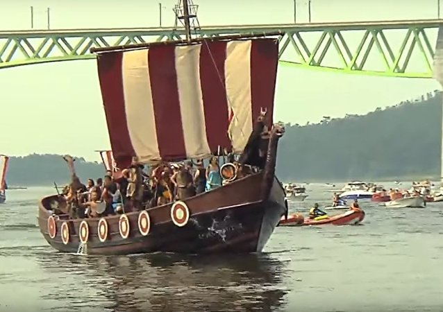 Vikings Took Over Spain for Romeria Fesrival