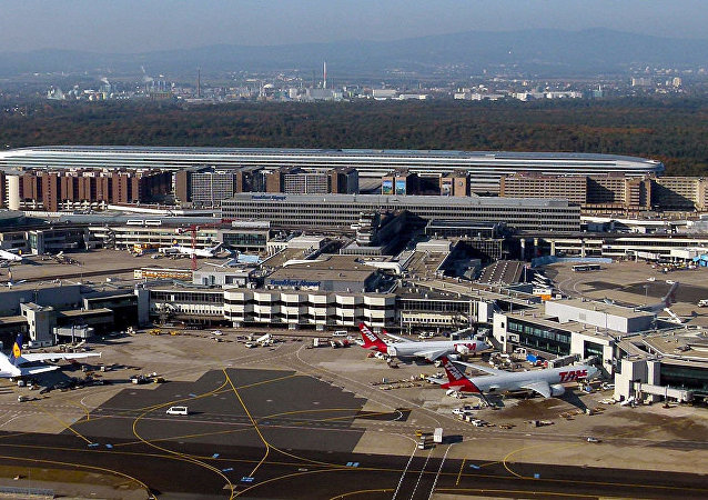 Aerial View of Frankfurt Airport