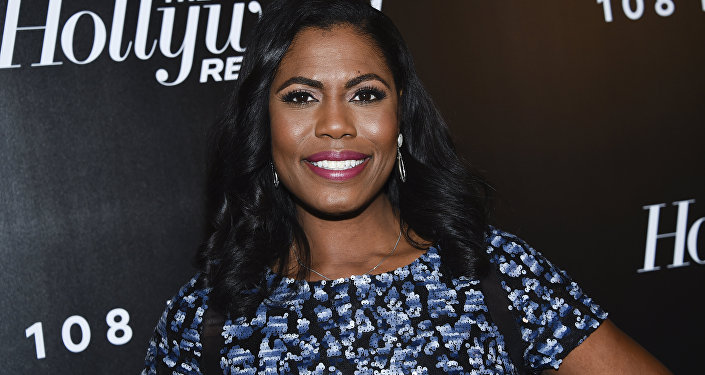 Television personality Omarosa Manigault attends The Hollywood Reporter's annual 35 Most Powerful People in Media event at The Pool on Thursday, April 12, 2018, in New York.