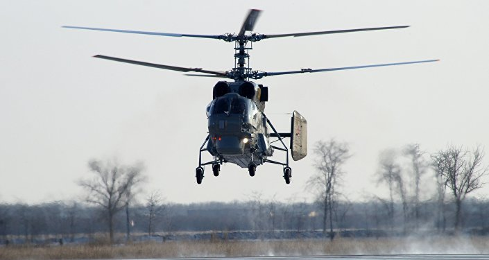 The new Ka-27M helicopter arrives at the Yeysk Center of combat employment and flight crew retraining