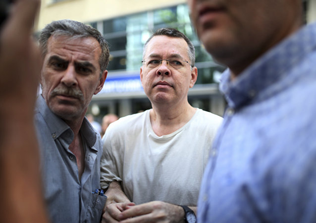 Andrew Craig Brunson, an evangelical pastor from Black Mountain, North Carolina, arrives at his house in Izmir, Turkey.