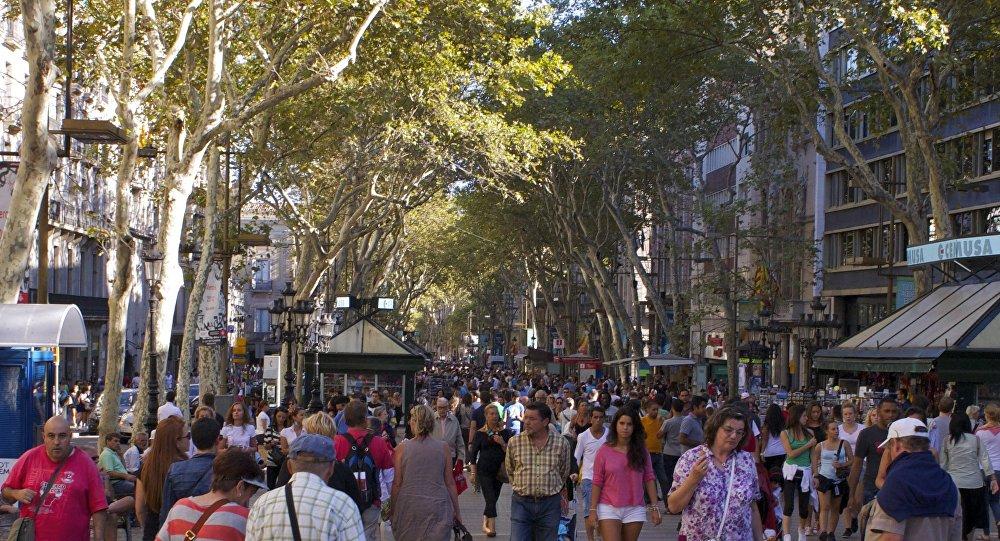 La Ramblas, Barcelona.