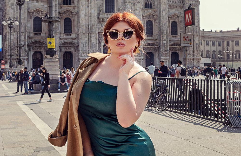 Russian plus-size model Yulia Rybakova