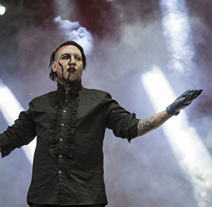 US singer Marilyn Manson performs at the Hell and Heaven music festival in Mexico City, May 5, 2018