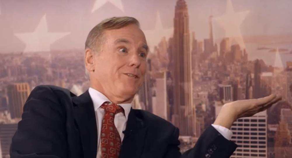 British comedian Sacha Baron Cohen asks former Vermont Governor Howard Dean to comment on former presidential candidate Hillary Clinton's gender.