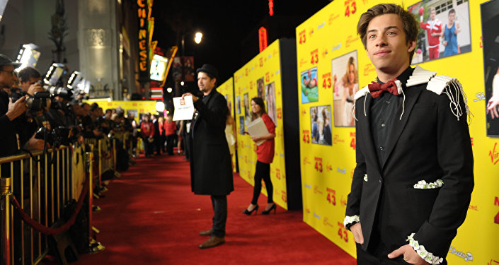 Jimmy Bennett attends the LA premiere of Movie 43 at TCL Chinese Theatre on Wednesday, Jan. 23, 2013, in Los Angeles.