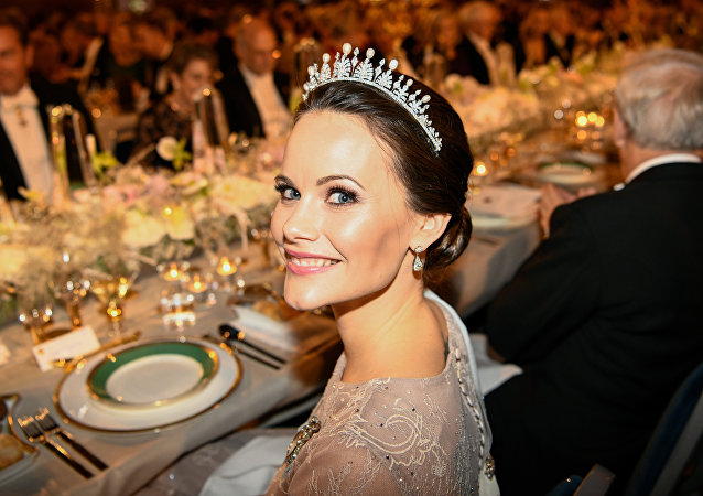 Princess Sofia of Sweden attends the 2017 Nobel Banquet for the laureates in medicine, chemistry, physics, literature and economics in Stockholm, on December 10, 2017.