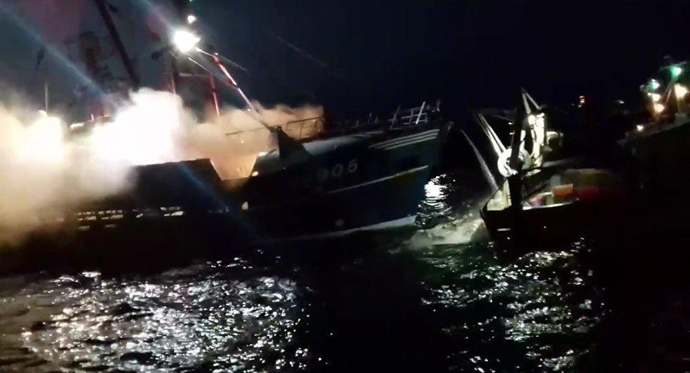 Boats of fishermen