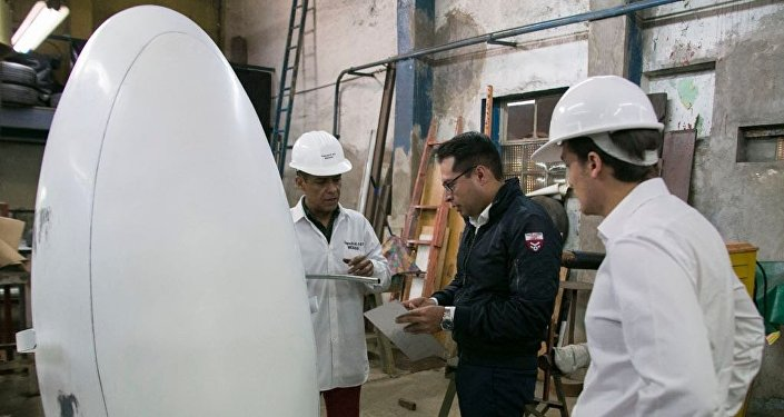 K107 capsule, which is able to resist the collapse of a building and provide survivors with oxygen, water and food for up to 30 days