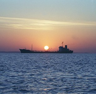 An Iranian water storage tanker sails off the coast of Qeshm Island 14 February 2001 in the Strait of Hormuz, one of the world's most important waterways (File)